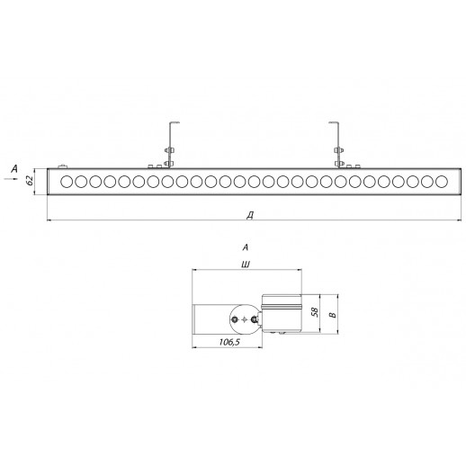 Architectural luminaire ARCHITECT 25 W