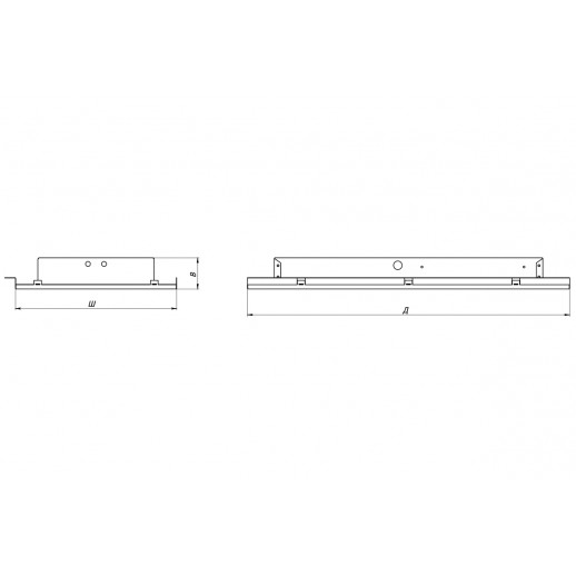 LED luminaire OFFICE-IP54 for lathed ceilings 33 W